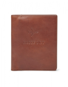 Suporturi de pasaport Fossil Leather RFID Passport Case MLG0358222