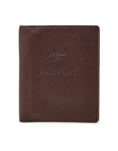 Suporturi de pasaport Fossil Leather RFID Passport Case MLG0358201