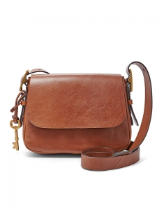 Genti Fossil Harpen Small Saddle Crossbody ZB6759200