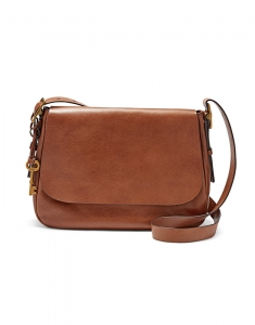 Genti Fossil Harpen Large Saddle Crossbody ZB6760200