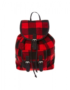 Ghiozdane Claire's Red and Black Buffalo Check Backpack 35500