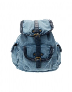 Ghiozdane Claire's Washed Blue Denim Backpack 19251