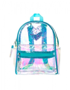 Ghiozdane Claire's Clear Iridescent Mint Mini Backpack 9977