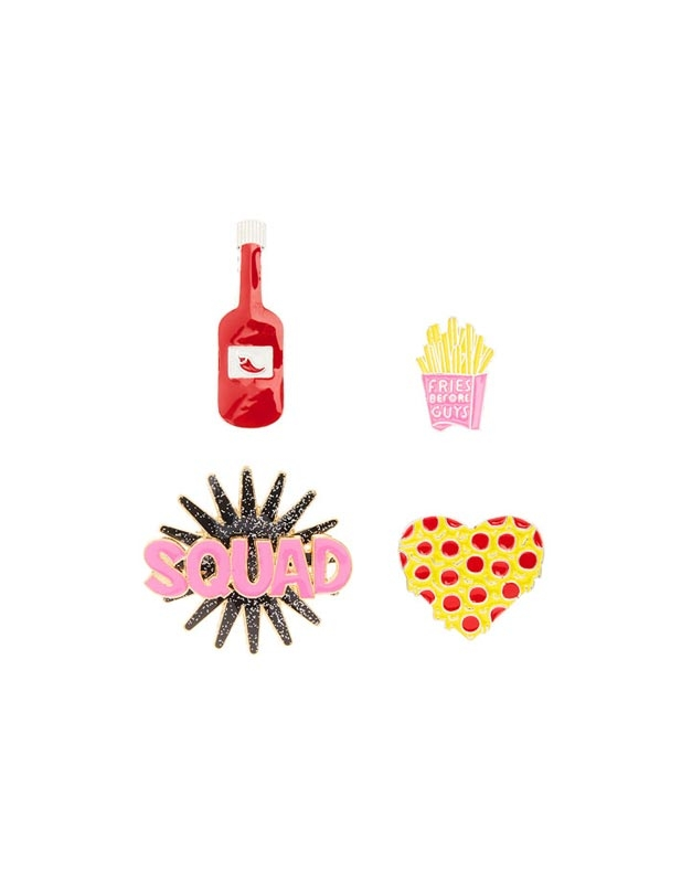 Claire's 4 Pc Fun Food Pins 96316