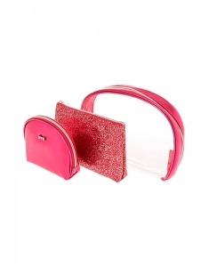Genti cosmetice Claire's Pink Glitter Makeup Bag Set 76603