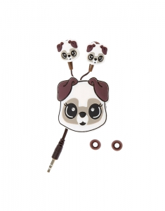 Accesorii Tech Claire's White Pug Earbuds with Winder 3582