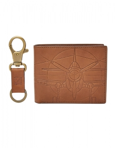 Portofele Fossil Axel Large Coin Pocket Bifold and Keyfob ML3969222