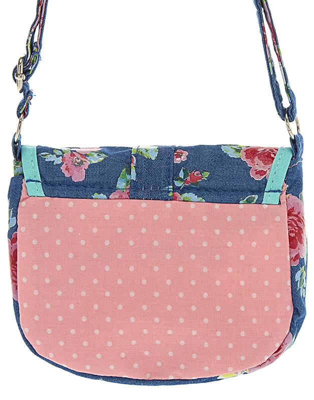6505fac5b642 Genti Claire s Kids Garden Party Fabric Crossbody Bag 96991