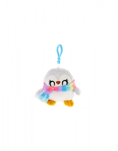 Brelocuri Claire's Peppie the Penguin Mini Soft Toy Keyring Clip 48544