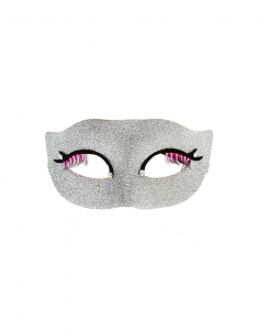 Accesorii petrecere Claire's Eyelash Silver Glitter Mask 50623