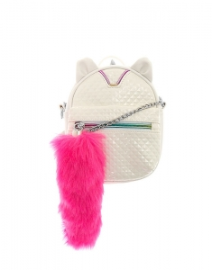 Genti Claire's Caticorn White Crossbody Backpack 30170