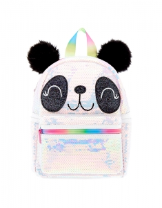 Ghiozdane Claire's Panda Face Sequin Backpack 55609