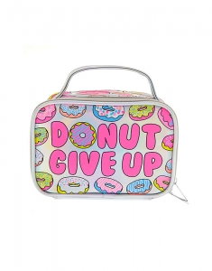 Genti cosmetice Claire's Donut Give Up Holographic Cosmetics Bag with Handle 28525