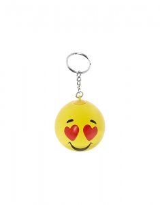 Brelocuri Claire's Heart Eye Emoticon Stress Ball Keyring 11380