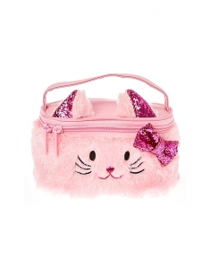 Genti cosmetice Claire's Club Plush Pink Kitty Cat Train Cosmetics Case 25097