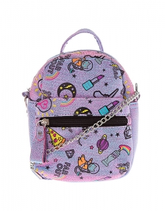 Genti Claire's Unicorn PWR Mini Backpack Crossbody Bag - Purple 22417