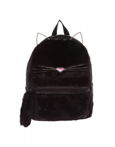 Ghiozdane Claire's Fuzzy Sequin Cat Backpack - Black 17484
