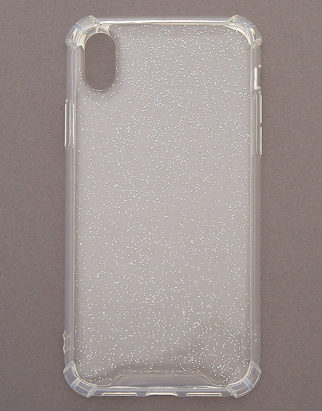 Claire's Clear Holographic Glitter Phone Case 72376