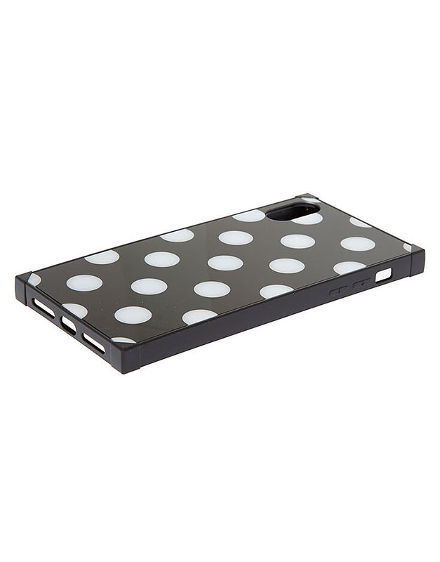Claire's Black Polka Dot Phone Case 85652