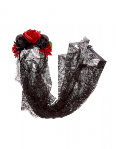 Claire's Day of the Dead Veil Headband 96092