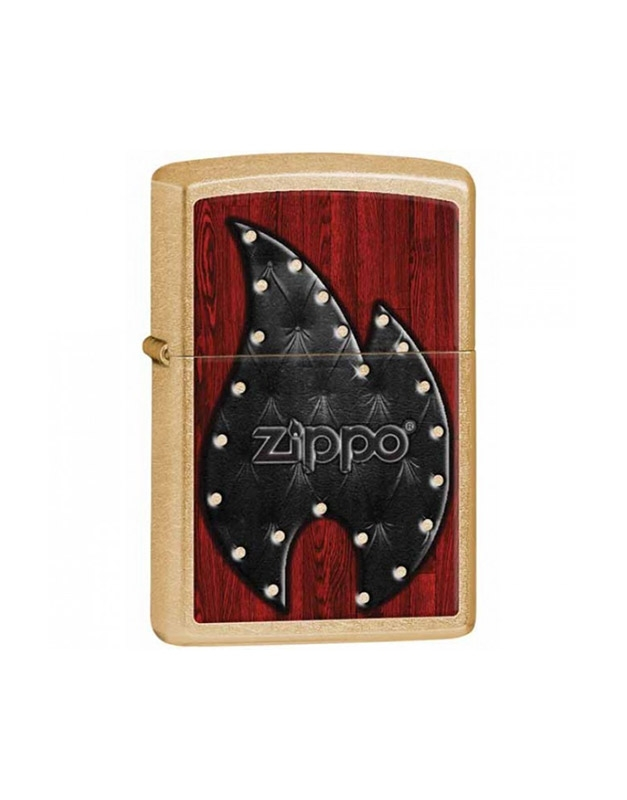 Zippo Executiv Leather Flame Gold Dust 28832