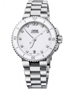 Ceas de mana Oris Diving Aquis Date Diamonds 73376524191-0781801P