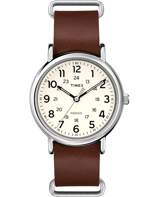 Timex® Weekender™ Leather Oversized T2P495