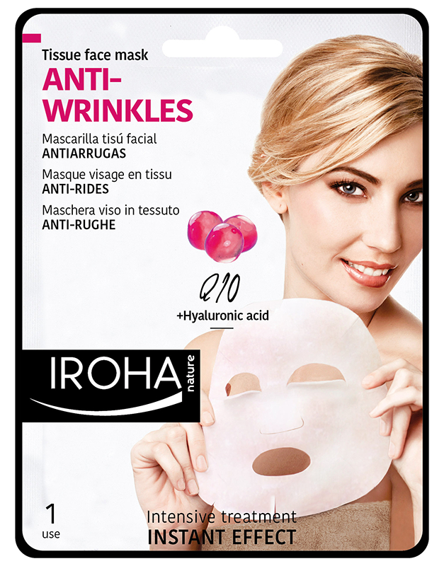Tissue Face Mask Anti-Wrinkles Q10 and Hyaluronic Acid 8436036430122