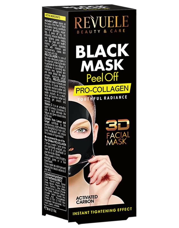 Revuele black mask peel off pro-collagen 80ml