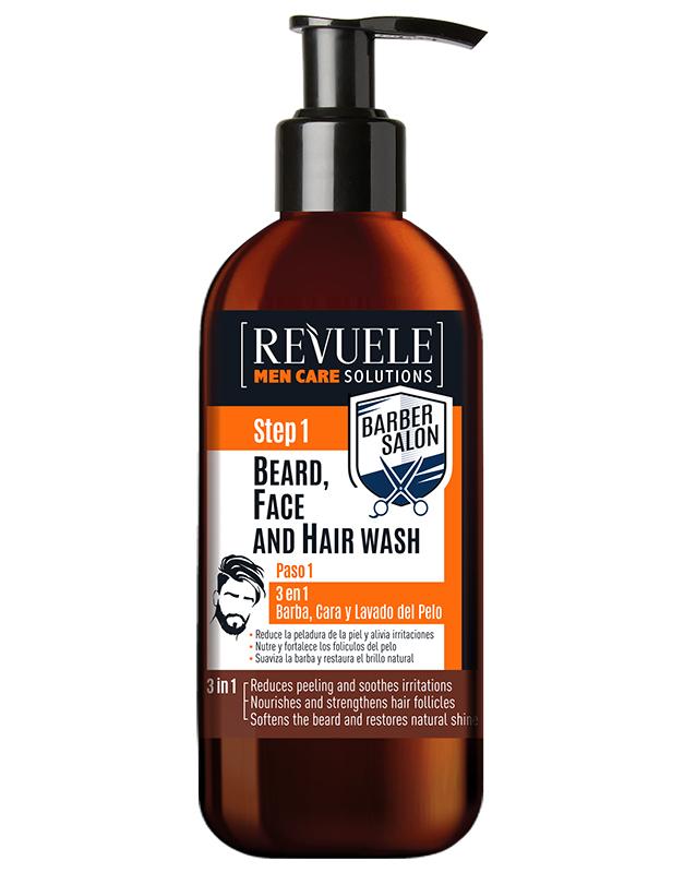 Revuele Men care barber 3in1-beard,face&hair wash 300ml