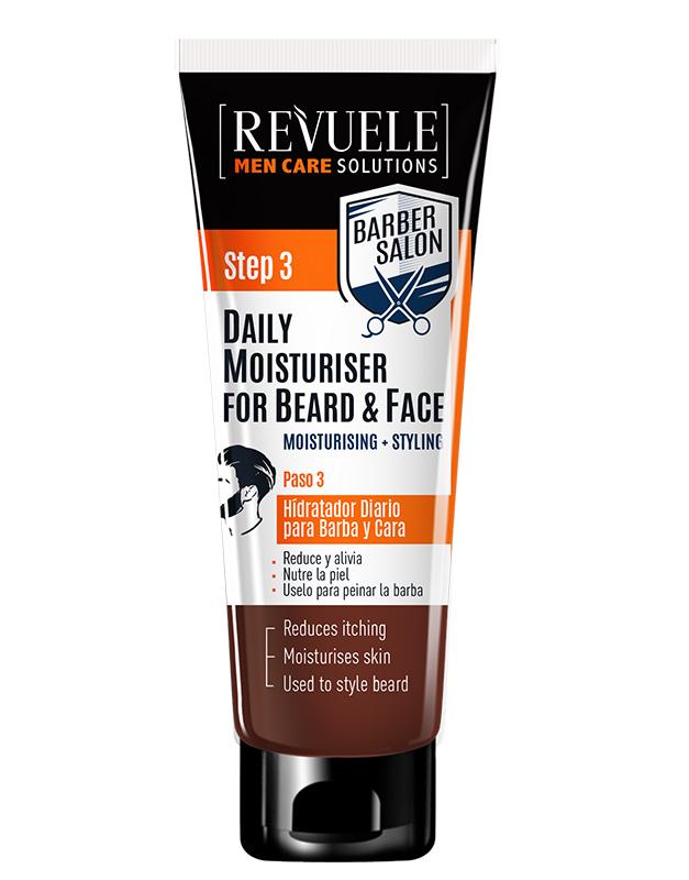 Revuele Men care barber daily moist.for beard&face 80ml